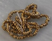 Solid Brass Heishi Beads