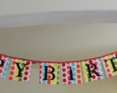 Happy Birthday Fabric Banner Primary Colors