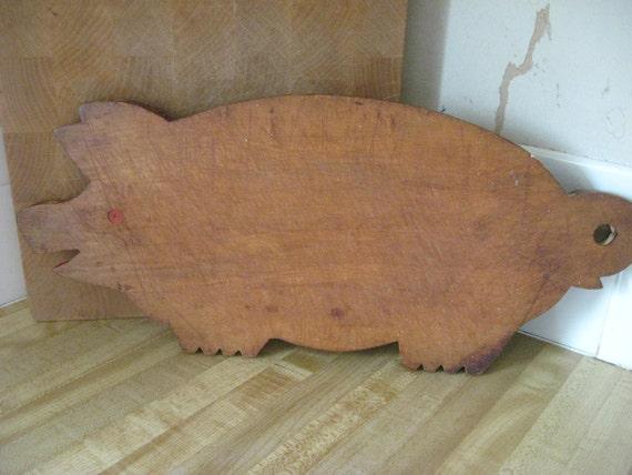 Wooden piggy pig  cutting board