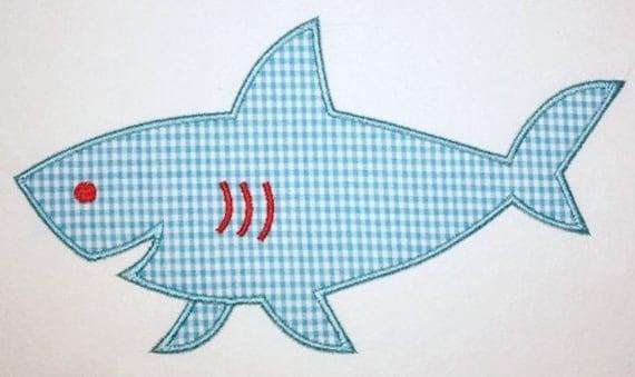 107 Shark Machine Embroidery Applique Design