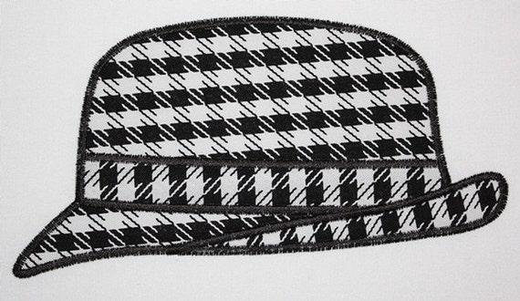 72 Houndstooth Hat Machine Embroidery Applique Design
