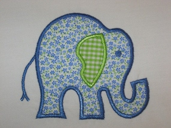 15 Elephant Machine Embroidery Applique Design