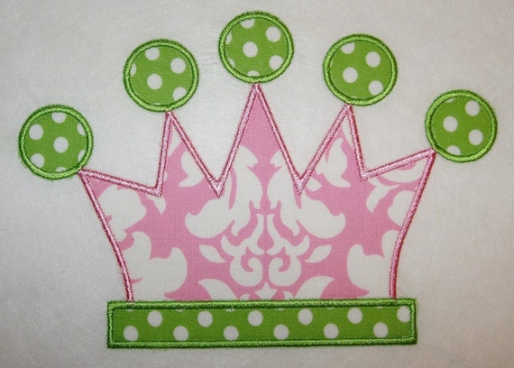 034 Tiara Machine Embroidery Applique Design