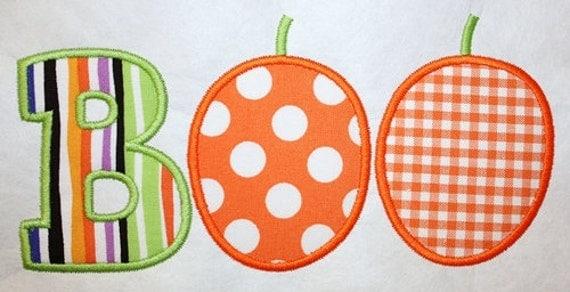 173 Pumpkin Boo Machine Embroidery Applique Design