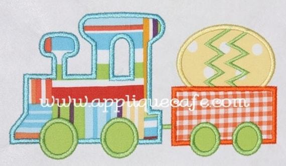 260 Easter Train  Machine Embroidery Applique Design