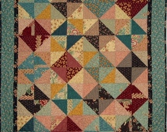 PDF Copy - Easy Charm Quilt Pattern - Baby Lap Quilt Pattern - Diamonds For Ever Lap Baby QUILT PATTERN