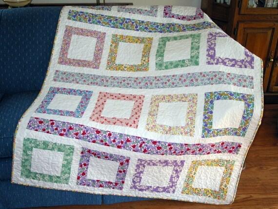 PDF Copy - Lap Quilt Pattern - Easy Quilt Pattern - Jelly Roll Quilt Pattern - Central Park Lap QUILT PATTERN