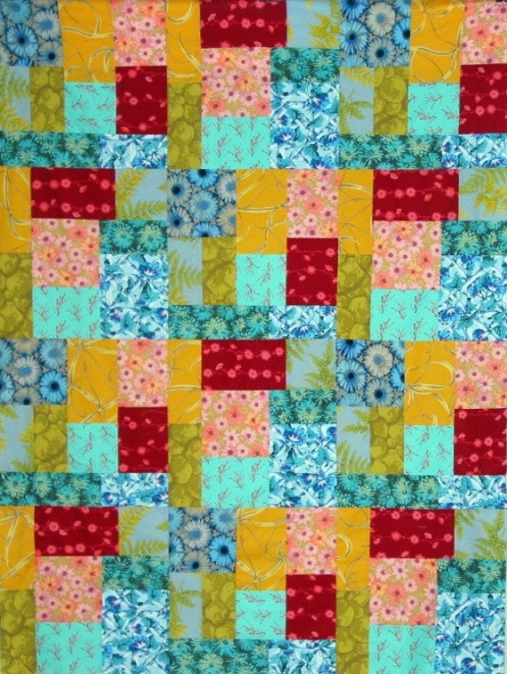 Lap Quilt  Easy Block Quilt Pattern  Patch Envy Lap QUILT PATTERN Easy Stripe Quilt Patterns For Beginners