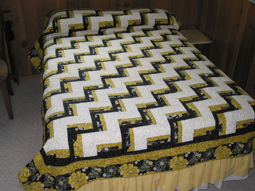PDF Copy Jelly Roll Full or Queen Size Quilt Pattern Chair