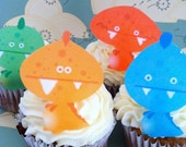 Edible Monsters...1 dozen - Cake & Cupcake toppers - Food Decorations