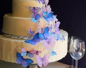 Wedding Cake Topper The Original EDIBLE BUTTERFLIES - Assorted Purple - set of 30 - Cake & Cupcake toppers - Food Accessories