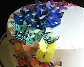 EDIBLE Butterflies The Original - Rainbow Collection 50 small - Cake & Cupcake toppers - PRECUT and Ready to Use - SugarRobot