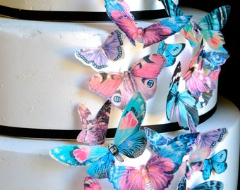 Wedding Cake Topper Wedding Cake Topper EDIBLE Butterflies Victorian Vintage Style - Cupcake toppers - Food Decoration