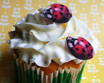 Edible Lady Bugs - Cake & Cupcake toppers - Food Decorations