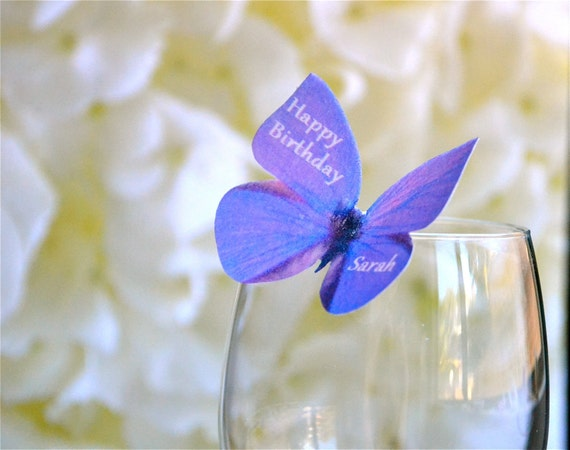 Edible Butterflies Personalzed - Purple Violet