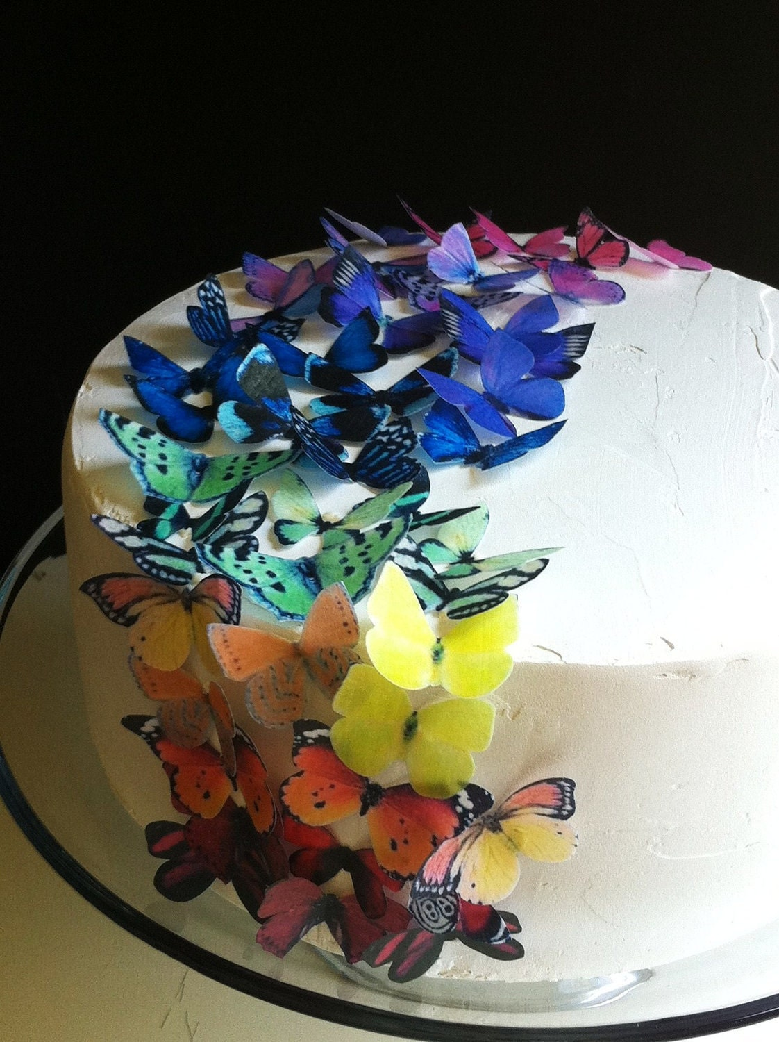 Wedding Cake Topper EDIBLE Butterflies The Original Rainbow
