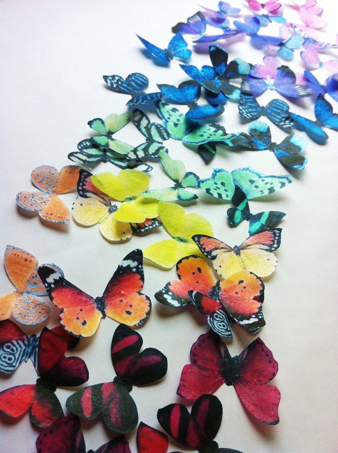 butterfly cake decorations the original edible butterflies rainbow collection set 2163