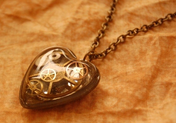 Steam Punk Super Heart with Chain