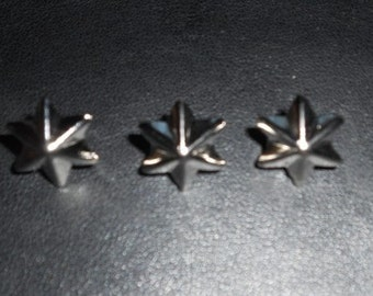 50 pcs - Silver Tone Hexagon Star Stud spot spike for leather craft - size 15 mm