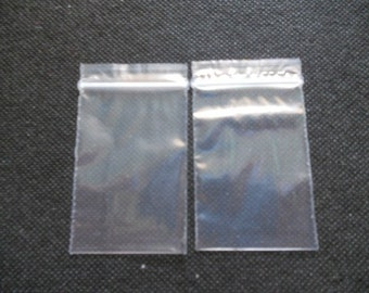 100 pcs - Clear Plastic Zip Bag - size 2.5  x 3.5 Inches