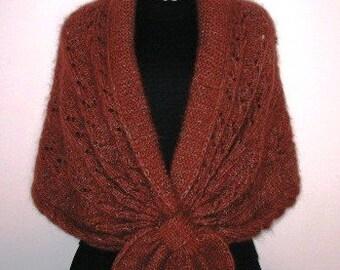 INSTANT DOWNLOAD Knitting Pattern - Elegant Brown Shawl Collar Shrug (No Yarn Breaking)