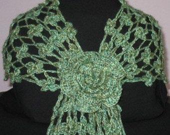 INSTANT DOWNLOAD Crochet Pattern - Beautiful Blossom Dogwood Flower Scarf (No Yarn Breaking)