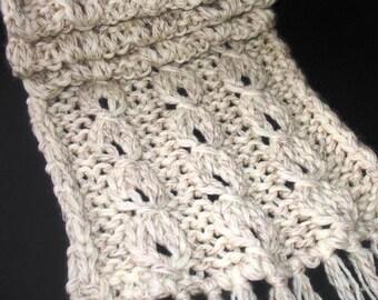 INSTANT DOWNLOAD Knitting Pattern - Trendy  Reversible Lantern Scarf  (for BEGINNER)