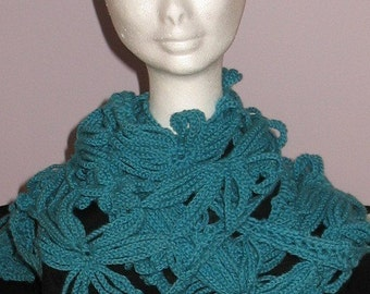INSTANT DOWNLOAD Crochet PATTERN - Stunning Daisy Flower Scarf