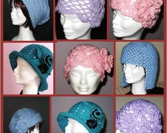 INSTANT DOWNLOAD 5 Versatile Crochet and Knitting Hat Patterns