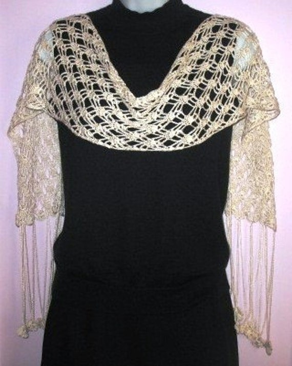 INSTANT DOWNLOAD Crochet PATTERN - Stunning Silky White Lace Scarf