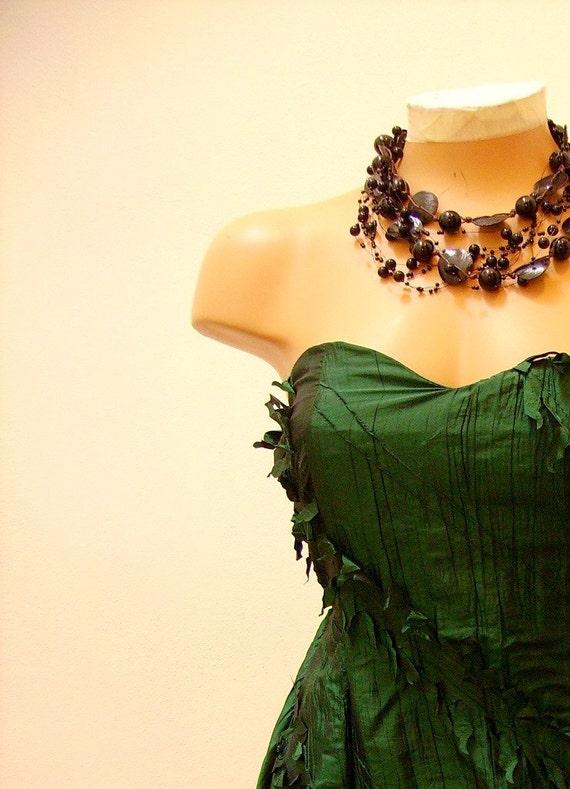 Green Leaf Cocktail Dress