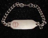 Medical ID Bracelet with Free Engraving