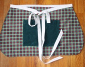SALE Plaid Apron