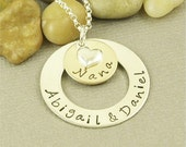 Personalized Nana Necklace Hand Stamped Jewelry Sterling Silver and 14kt Gold Filled