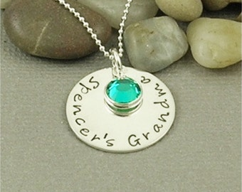 Hand Stamped Grandma Sterling Silver Necklace personalized and custom made