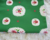 Organic Cotton Fabric Pretty Little Doily Green Fat Quarter