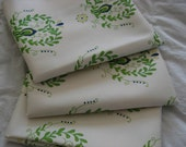 Organic Cotton Fabric Green Love Original Design heart shaped motif Fat Quarter
