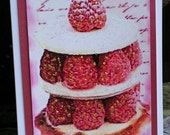 Raspberry Torte-French Pastry Blank 5x7 Greeting Card
