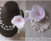 Semi Precious Stone and Sterling Silver Statement Necklace and Bracelet In-One - by OneCraftyFox