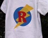 Superhero Initial Applique T-shirts