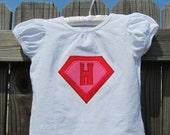 Girl's Superhero Initial T-Shirt
