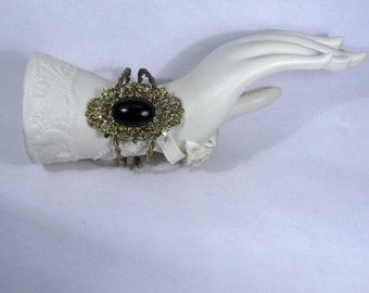 Beautiful Black Filigree Bracelet