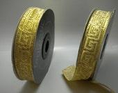 greek trims ribbon greek key  Gold Greek Key  15mm  greek key ribbon