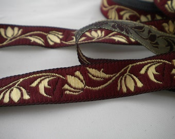 floral jacquard ribbon trim 15mm