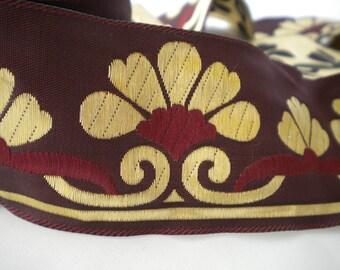 Burgundy Jacquard Ribbon Trim