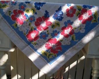 Cheerful Garden Vintage Tablecloth
