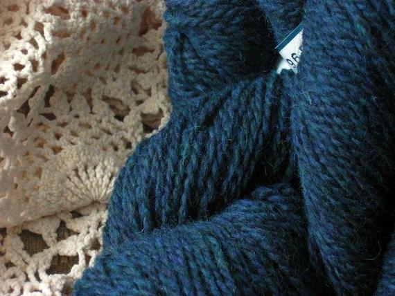 Wool knitting yarn, Peace Fleece, teal, worsted, Baikal Superior Green