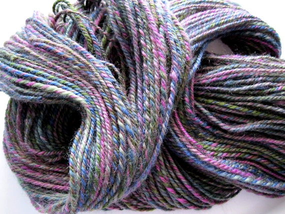 Reserved for Jessica, Handspun yarn - worsted weight wool, 170 yards, hand spun wool, handmade