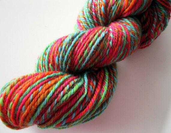 Handspun yarns, wool, neon yarn, corriedale wool 130 yards