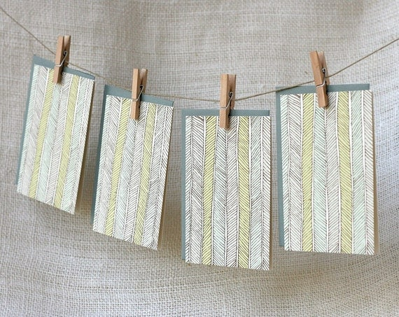 Note Card Set - Herringbone